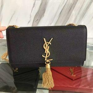 YSL Saint Laurent Tassel Bag Check Description